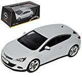 Opel Astra GTC J Ab 2009 Coupe Mineral Weiss Silber 1/43 Ist Ixo Modell Auto