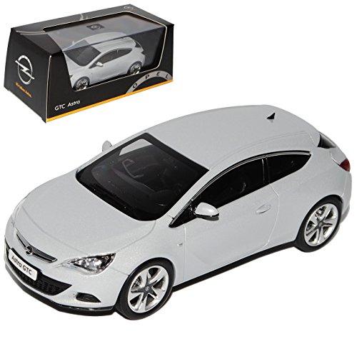 Opel Astra GTC J Ab 2009 Coupe Mineral Weiss Silber 1/43 Ist Ixo Modell Auto mit individiuellem Wunschkennzeichen
