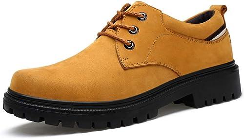 Hhor Hhor 2018 Chaussures de Ville en Cuir Oxford pour Hommes avec Tenue de Travail décontractée et tête Ronde - Chaussures Formelles avec Fond épais (Couleur  Noir, Taille  40 EU)  produit de qualité