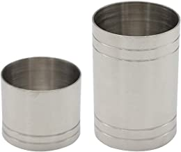 Prettyia Thimble Wine Measures 25ml 50ml Bar Jigger Spirit Shot Measure Stainless, Silver, Set of 2