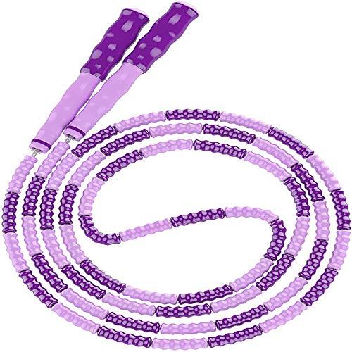 BJHSYNDR Skipping Ropespeed Skipping Rope, Adjustable Segment Skipping Rope, Non-Tangled Soft Beaded Lightweight Children Men And Women.Add Storage Bag