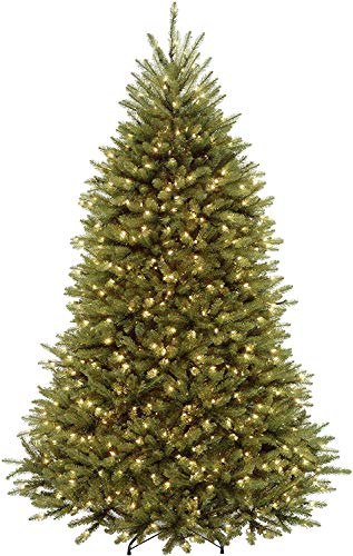 National Tree Company 7.5 Foot Dunhill Fir Tree with Power Connect Dual Color LED Lights (DUH3-D30-75)