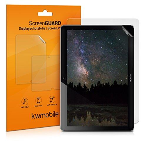 kwmobile 2x Folie kompatibel mit Huawei MediaPad T3 10 - Full Screen Tablet Schutzfolie entspiegelt