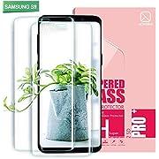 Youer Galaxy S9 Panzerglas Schutzfolie, [2 Stück] Full Coverage HD Ultra Klar Abdeckung Gehärtetem Glas, HD Displayschutzfolie, Anti-Fingerabdruck, 9H Härte, Blasenfreie 3D Hartglas - Transparent
