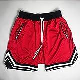 ShSnnwrl Pantalones Cortos de Hombre Pantalones Cortos para Correr de Malla de Verano para Hombre, nuevos Pantalones Cortos de Gimnasio par
