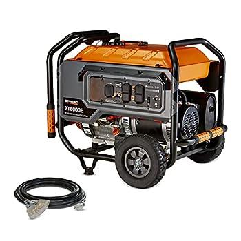 Generac G0064331 6433 XT8000E Watt 420CC 49 ST/CSA Portable Generator Orange Black