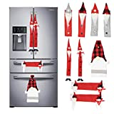 JOYIN 9 Packs Gnome Christmas Refrigerator Handle Covers Set, Protector Handle Covers for Kitchen Appliances...