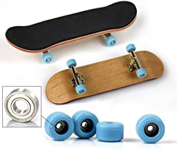Onefa Finger Toy, Mini Fingerboards Finger Skateboard 5 Layers Maple Wood Skate Board Kids Toy Great Gift Unrestrained Anywhere (As Shown)
