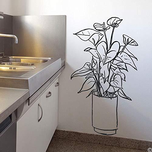 AKmene Topfpflanzenkultur Wandaufkleber Kinderzimmer Wanddekoration Dekoration dekorative Wanddekoration Malerei 43cm x 75cm