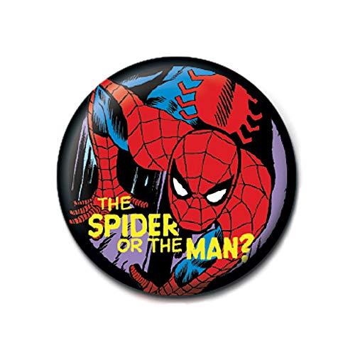 Genuine Marvel Comics Spider-Man Die Spinne oder der Mann Taste Abzeichen Stift Retro