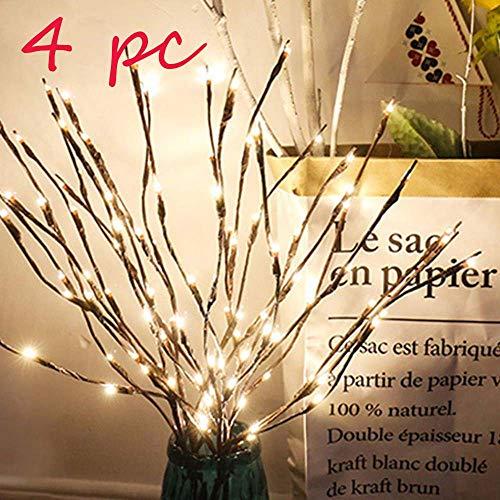Rami Luminosi a LED, Decorazione per Feste e Natale, Luci di Fiabe Rami di salice Lampada Bianco Caldo Luci Decorative Interni Luci da Fata per Feste Decorazione a Batteria [Energetica A]