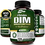 NutriFlair DIM Supplement 400mg with Bioperine, 120 Capsules - Diindolylmethane - Estrogen Metabolism Support & Hormone Balance, Menopause, PCOS, Acne and Skin Care for Men & Women - Compare to 300mg
