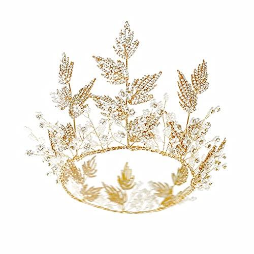 Moda Crystal Bridal Crown Tiaras Diadem Tiaras for Mujeres Novia Accesorios for el cabello velo de novia TSYGHP