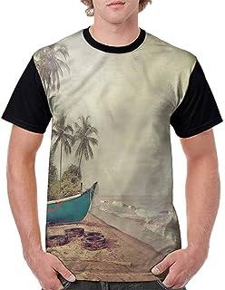 BlountDecor Fashion T-Shirt,Colorful Pencils Squares Fashion Personality Customization