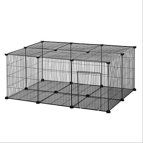 Pawhut Parque para Mascotas DIY Jaula para Animales Pequeños de 22 Paneles...