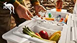 JOEE Medium Cooler Organizer (Medium) 11.75' Wide- The World's Best Cooler Accessory with 5 Amazing Features Order Now
