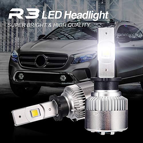 LED Auto Phare Lampe (CSP PUCE)35W 6500K 7000LM IP67 360 ° Imperméable Kit De Conversion Ampoules Pour Voiture,H3