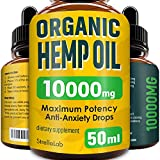 Hemp Oil Drops - 50ml - 10000mg Highest Strength Hemp Extract - Made in UK - Premium Grade - Pure Co2 Extraction