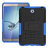 DWay Tablet Cover Galaxy Tab S2 8.0 T710 Armor Design with Stand Feature Detachable Dual Layer Protective Shell Tablet Hard Back Case Cover for Samsung Galaxy Tab S2 8.0 inch SM-T710/T715 (Blue)