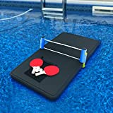 Polar Whale Floating Ping Pong Table Pool Party Table Tennis Float Game Durable Black Foam 4 Feet Long Uv...