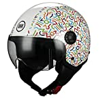 BHR 73634 Casco Moto Demi-Jet Linea One 801, Multicolore (Multi), M