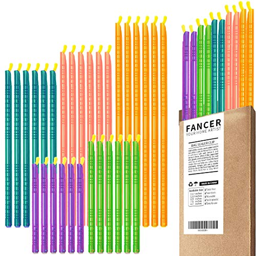 30PCS Bag Sealer Clips FANCER Sealing Sticks Chips Multi Length Ecofriendly Keep Plastic Bags Sealing Airtight Watertight amp Food Fresh Reusable amp Easy to Storage  Not Touching the Food Color A