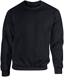 D&H Plain Classic Sweatshirts Sizes XS to 3XL Workwear Casual Crewneck Jumper Sweater Sports Leisure Fleece Pullover