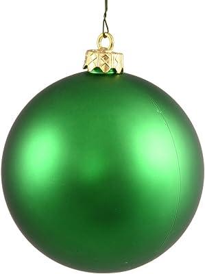"""Vickerman 6"""" Green Matte Ball Ornament 4 per Box"""