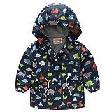 H.eternal(TM) 2 – 8 años para niños y niñas con capucha y cierre de mariposa, resistente al viento, ropa de exterior, ropa de bebé, abrigos para niñas, ropa de bebé, chaqueta parka para niños pequeños