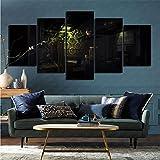 mmkow Pared Impresa en Lienzo 5 Piezas de Videojuego Prey (2017) Sala de Estar Dormitorio Artista Hobby Pintor 50x100cm (Marco)