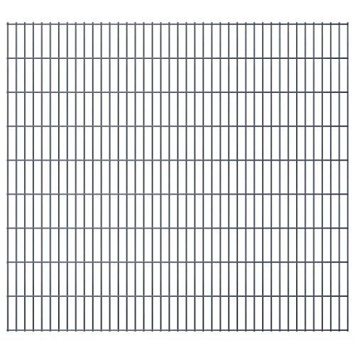 vidaXL Panneau de clôture 2D pour jardin 2008x1830 mm Gris
