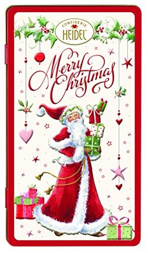 Heidel Confezione Regalo Natale in Scatola di Latta Cioccolato al Latte Alta Qualità - 1 x 120 Gram