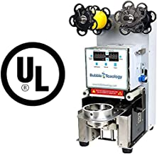UL Automatic Bubble Tea Sealer Machine Electric Boba Cup Sealer Film LED Coffee