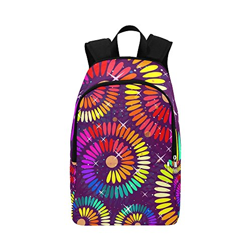 Abstract Spiral Colorful Casual Daypack Travel Bag College School Backpack for Mens and Women