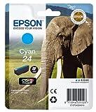 Epson T2422 Cartouche d'encre 4,6 ml Cyan Amazon Dash Replenishment est prêt