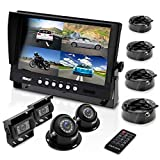 Pyle Mobile Video Surveillance System - Weatherproof Rearview, Backup and Dash Cam with HD 4 IR LED Night...