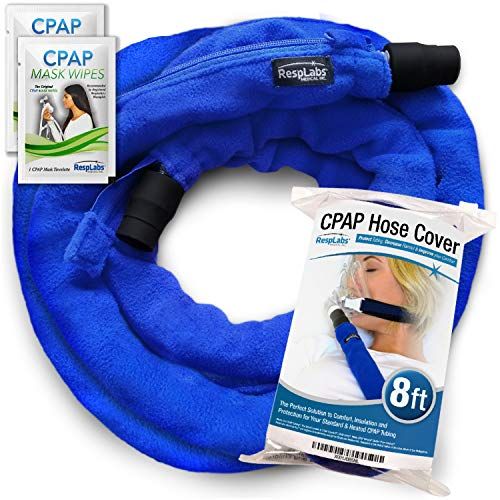 RespLabs CPAP Hose Cover — [8 Foot] Tube Wrap   Fleece Tubing Comfort with Zipper