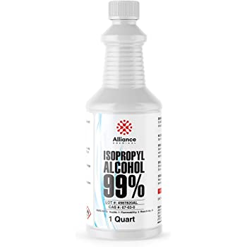 Alliance Chemical - Isopropyl Alcohol 99% - One Sealed Quart Bottles - 32 Fluid Ounces - High Purity Rubbing Alcohol