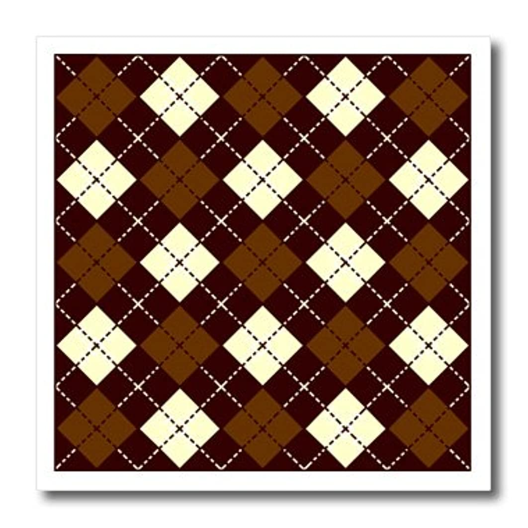3dRose LLC ht_12119_3 Argyle Design Brown Iron on Heat Transfer Paper, 10 by 10-Inch
