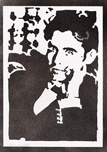 Poster Federico García Lorca Grafiti Hecho a Mano - Handmade Street Art - Artwork