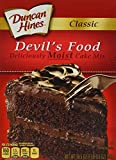 2 -16.5 Oz (468g) Boxes Classic Devil's Food Cake Mix Deliciously Moist Cake Simple to Make - Tastes Great Duncan Hines - America's Favorite Cake Mix.