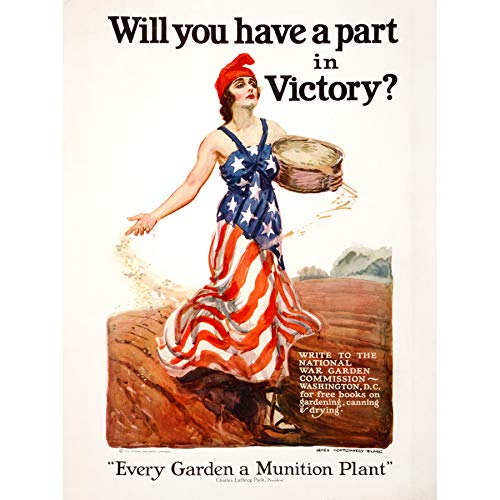 Vlaggen War WWI 1918 Food Production Victory Advert Wall Art Print Poster Home Decor Premium Vlag Eten Victoria reclame Muurposter Huis