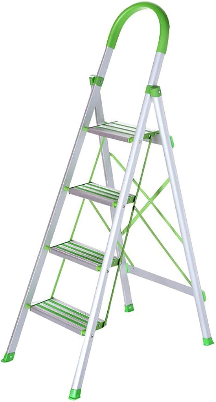 Household Folding Step Ladder Aluminum Alloy Thickened Herringbone Ladder Indoor 4 Steps Engineering Step Stool Escalator
