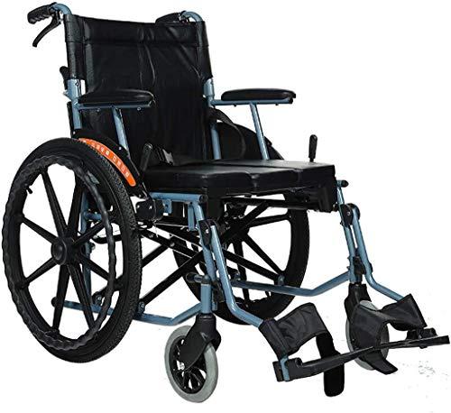 SOAR Rollstuhl Faltbar,Faltrollstuhl Rollstuhl for Jugendliche, Junge Erwachsene, ältere Menschen, Behinderte |Leicht, faltbaren Rollstuhl, Transport Stuhl mit Locking Handbremsen