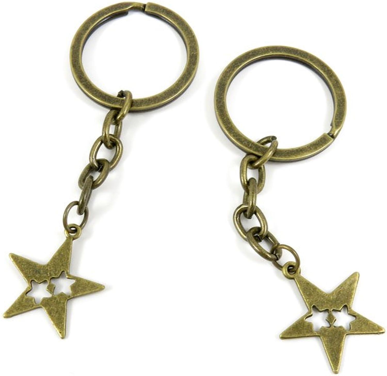 80 PCS Keyring Car Door Key Ring Tag Chain Keychain Wholesale Suppliers Charms Handmade G2ZA4 Three Stars