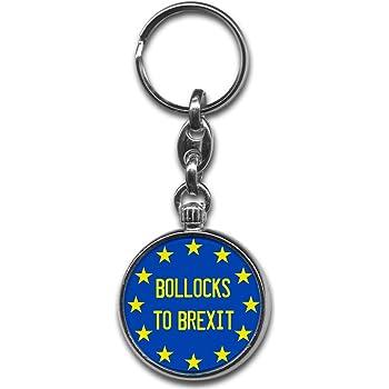 Bollocks to Brexit EU Flag Keyring
