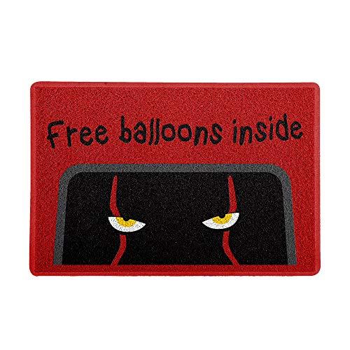 Capacho/Tapete 60 x 40 cm - Free Balloons Vermelho, Beek Geek's Stuff