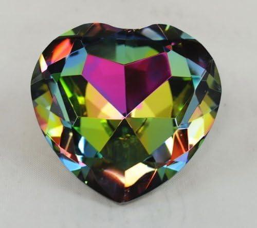 Sale Tripact Inc Crystal Diamond Jewel Paperweight Popular standard R Dark 80 mm Heart