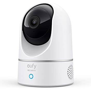 eufy Security 2K Indoor Cam Pan & Tilt, Plug-in Security Indoor Camera with Wi-Fi, IP Camera, Human & Pet AI, Voice Assistant Compatibility, Motion Tracking, HomeBase Not Required