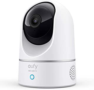 eufy 2K cámara IP wifi de vigilancia para interiores, cámara de seguridad pan-tilt enchufable, reconocimiento de personas,...